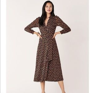 DVF paisley wrap dress